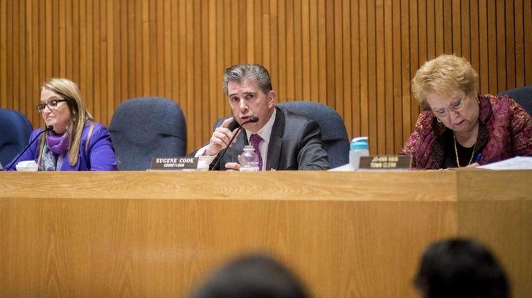 The Huntington Town Board convenes at a board