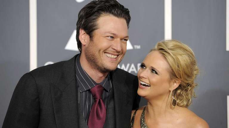Blake Shelton and Miranda Lambert arrive at the
