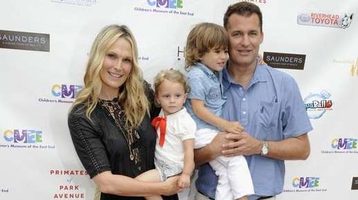 Molly Sims, with husband Scott Stuber and their
