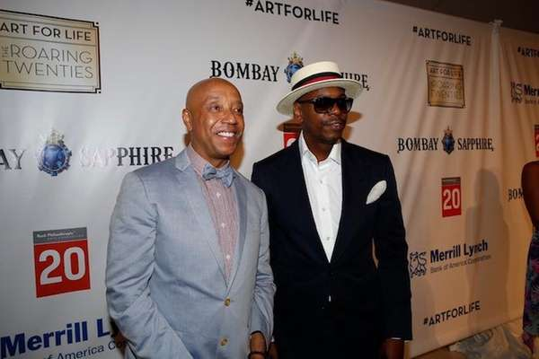 Russell Simmons and Dave Chappelle at the Art