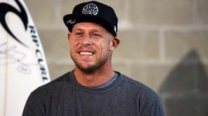 Australian surfing champion Mick Fanning smiles during a