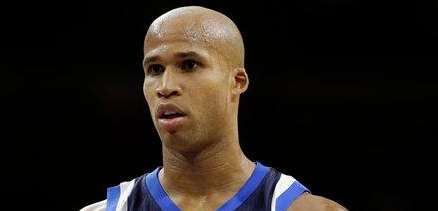The Dallas Mavericks' Richard Jefferson looks on during