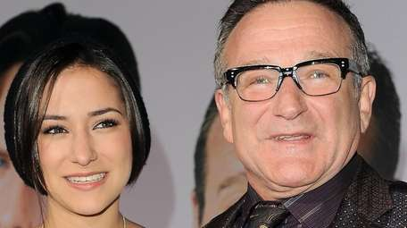 Zelda Williams and her father, Robin Williams, attend
