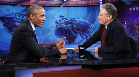 President Barack Obama joins Jon Stewart for a