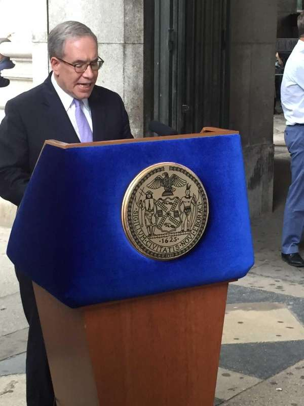 Scott Stringer holds a press conference July 21,