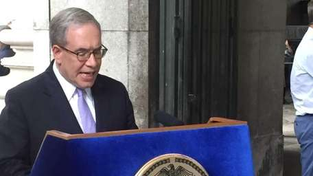 Scott Stringer holds a press conference July 21,
