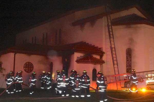 Suffolk County's Arson Squad is investigating a fire