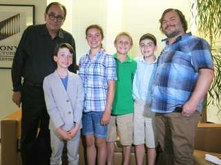 Author R.L. Stine and actor Jack Black with