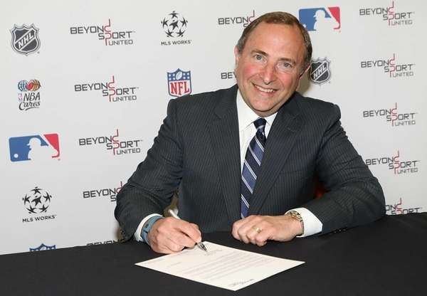 NHL Commissioner Gary Bettman renews the league's commitment