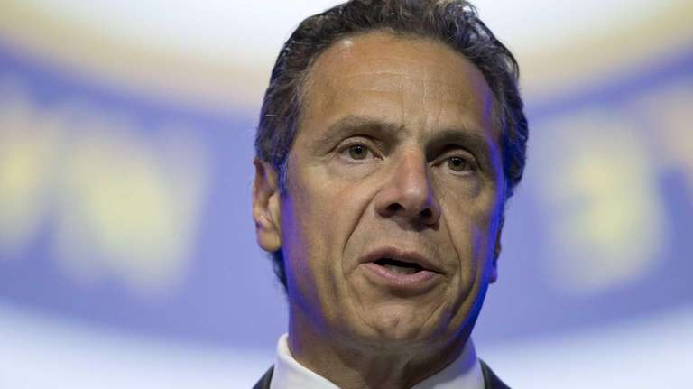 Gov. Andrew M. Cuomo speaks during the NAACP's