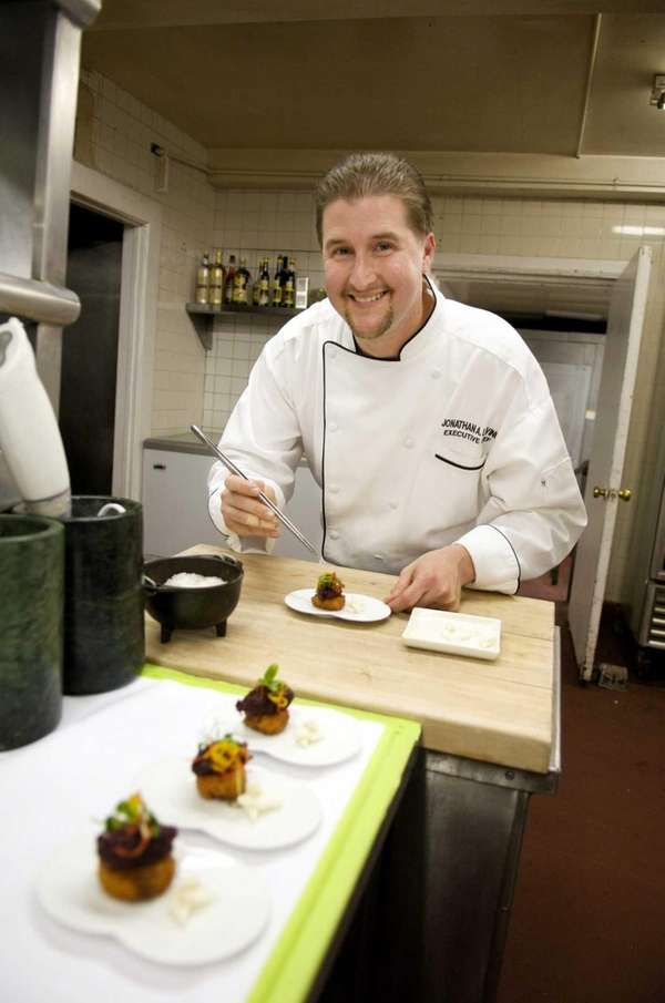 Executive Chef Jonathan Levine in Wave seafood's kitchen