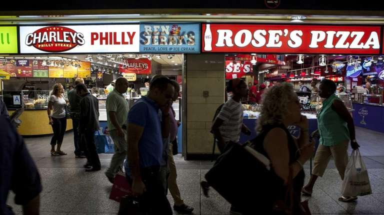 Retail stores dot the Penn Station Long Island