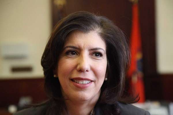 Acting Nassau District Attorney Madeline Singas appears in