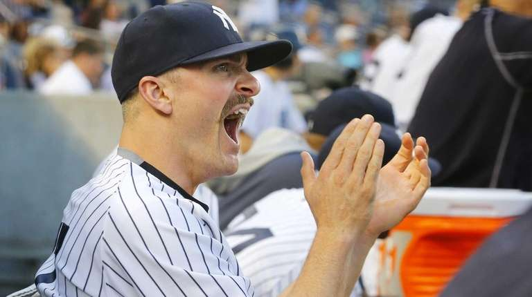 Brendan Ryan of the New York Yankees looks