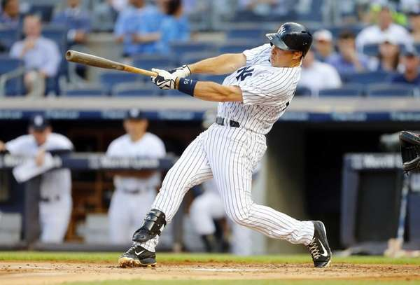 Mark Teixeira of the New York Yankees follows