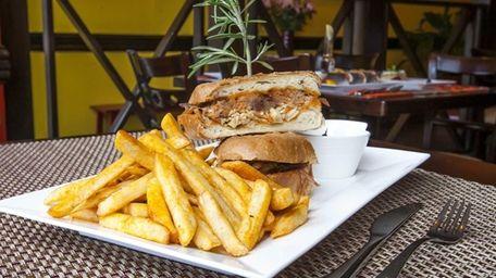 El Puerquito, a sumptuous pork sandwich, is served