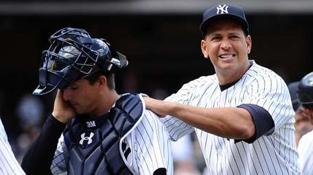 Alex Rodriguez and John Ryan Murphy walk off