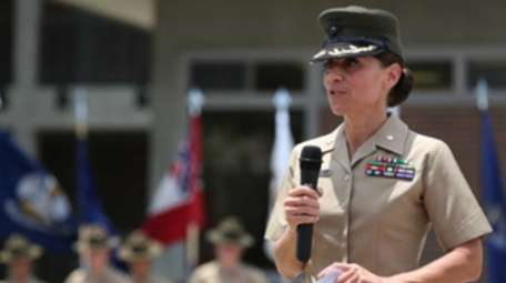 U.S. Marine Lt. Col. Kate I. Germano, battalion