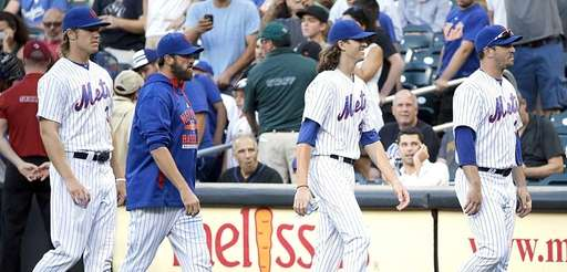From left, New York Mets starting pitchers Noah