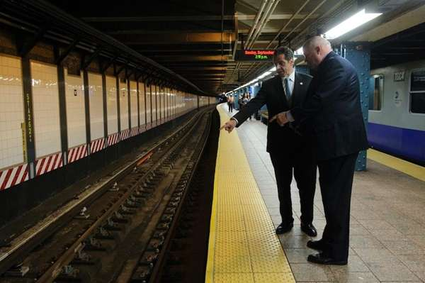 Governor Andrew M. Cuomo with MTA chairman Thomas