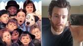 Bug Hall played Alfalfa, center with mouth agape,