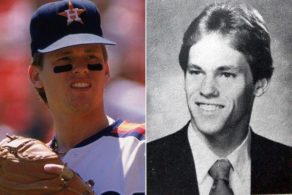 At left, Craig Biggio of the Houston Astros