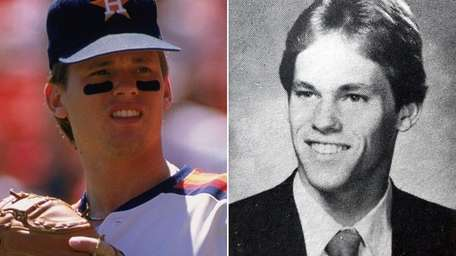 At left, Craig Biggio of the Houston Astros