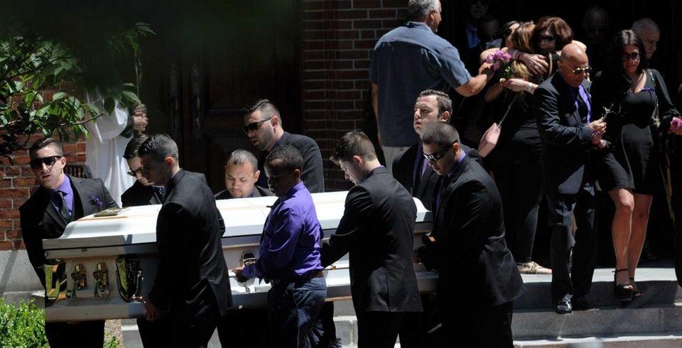 The coffin of Cutchogue crash victim Stephanie Belli,