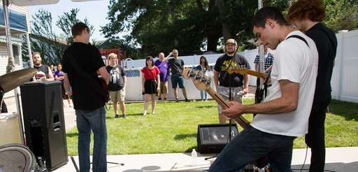 The band Carbon Thief performing at Susiepalooza, a
