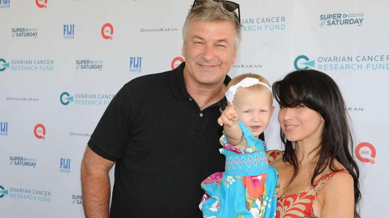Alec and Hilaria Baldwin, with their baby Carmen