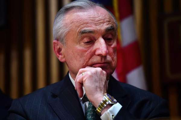 Police Commissioner William Bratton during a press conference