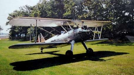 This is the vintage biplane that pilot Robert