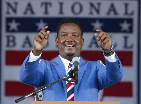 National Baseball Hall of Fame inductee Pedro Martinez