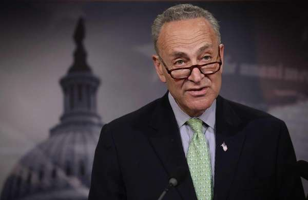 U.S. Sen. Charles Schumer speaks to members of