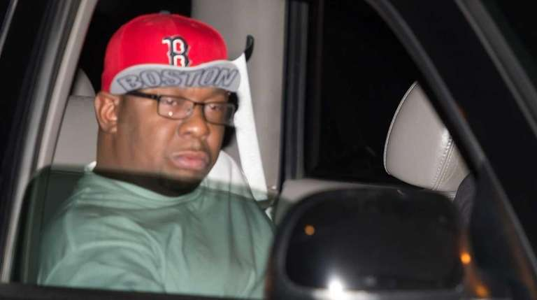 Musician Bobby Brown is driven from the Peachtree