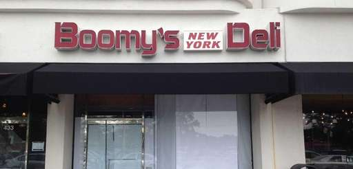 The windows are papered over at Boomy's New