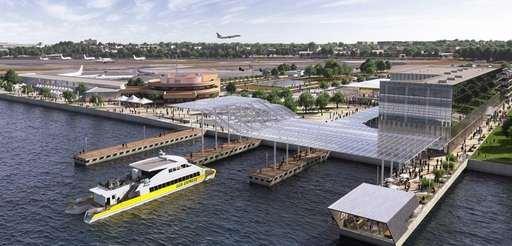 A rendering of the renovated Marine Air Terminal