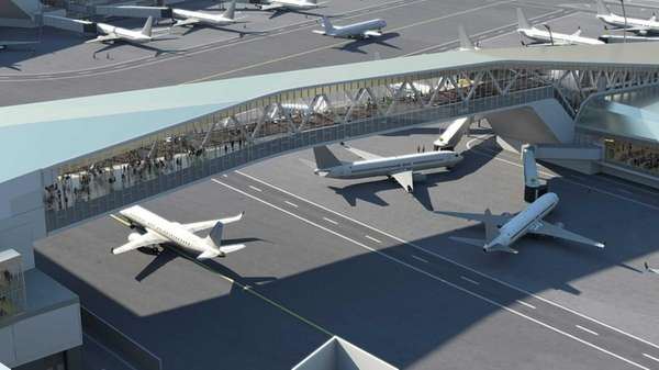 A rendering of LaGuardia Airport at the Bridge