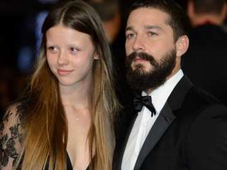 From left, Mia Goth and actor Shia LaBeouf