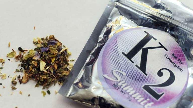 A package of K2, a concoction of dried
