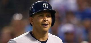 Alex Rodriguez of the New York Yankees rounds