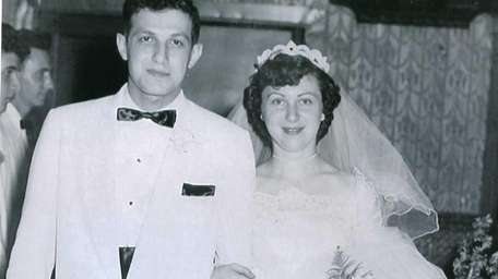 Dino and Marion Gerbase on their wedding day,
