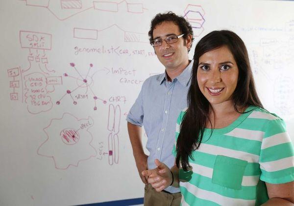 Maria Luisa Pineda, CEO of Envisagenics, and Martin