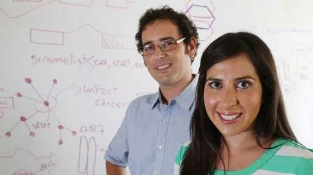 Maria Luisa Pineda, CEO of Envisagenics, and Martin
