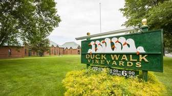 The exterior of Duck Walk Vineyards South in