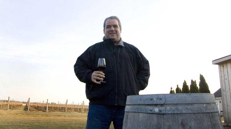 Richard Pisacano, owner of Roanoke Vineyards in Riverhead.