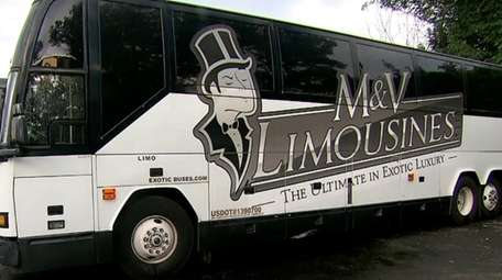 A party bus used at the Commack-based M&V