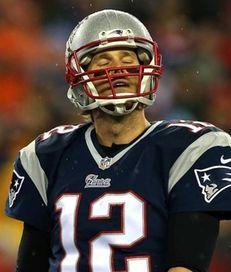 Tom Brady of the New England Patriots reacts