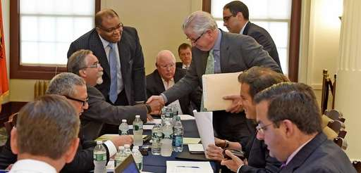 Pete Curry, right, Attorney for Forest City Ratner,