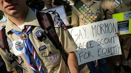 In this file photo, members of Scouts for